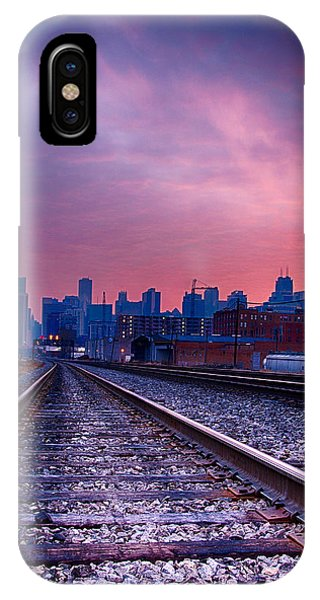 Chicago Skyline Sunrise December 1 2013 IPhone Case