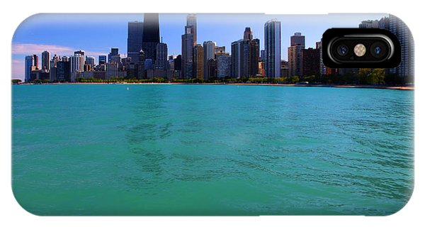 Chicago Skyline Teal Water IPhone Case