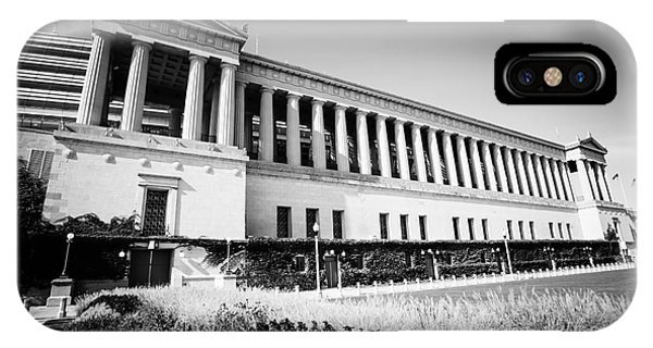 Chicago Solider Field Black And White Picture IPhone Case
