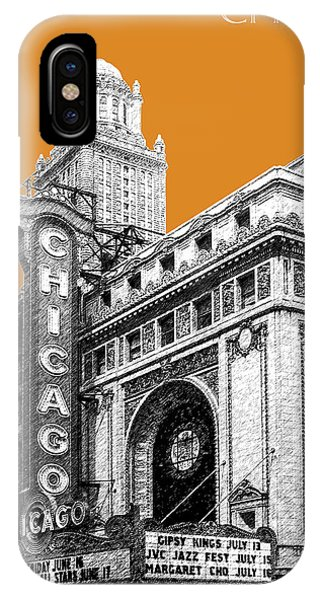 Chicago Art iPhone Case - Chicago Theater - Dark Orange by DB Artist