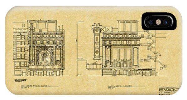 Chicago Theatre Blueprint 2 IPhone Case