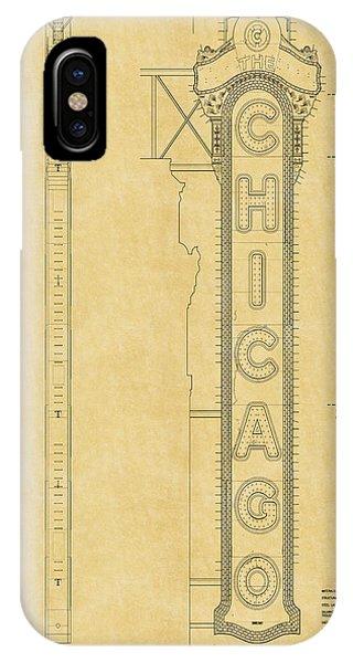 Chicago Theatre Blueprint IPhone Case