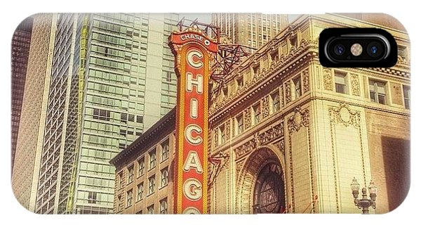 City iPhone Case - Chicago Theatre #chicago by Paul Velgos