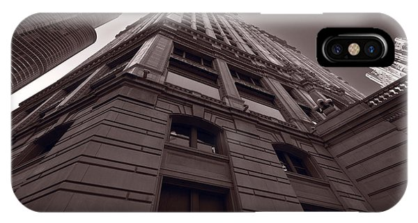 Chicago Towers Bw IPhone Case
