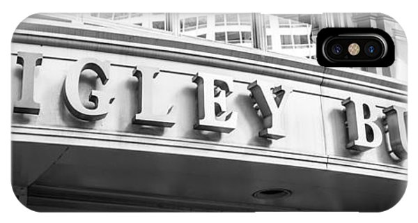 Chicago Wrigley Building Sign Panorama Photo IPhone Case