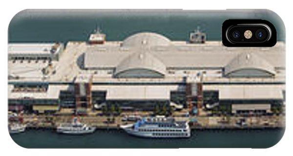 Chicago Skyline Art iPhone Case - Chicago's Navy Pier Aerial Panoramic by Adam Romanowicz