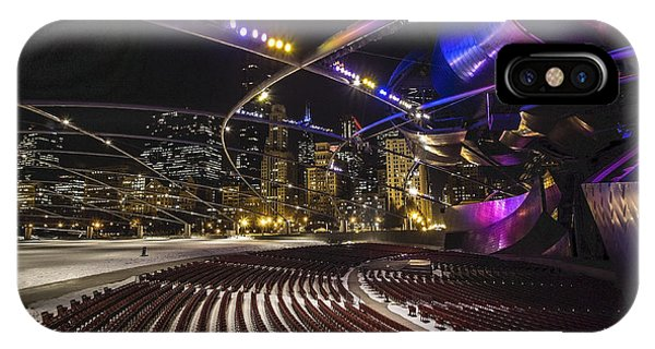 Chicago's Pritzker Pavillion With Colored Lights  IPhone Case