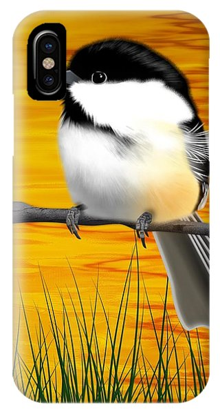 Chickadee On A Branch IPhone Case