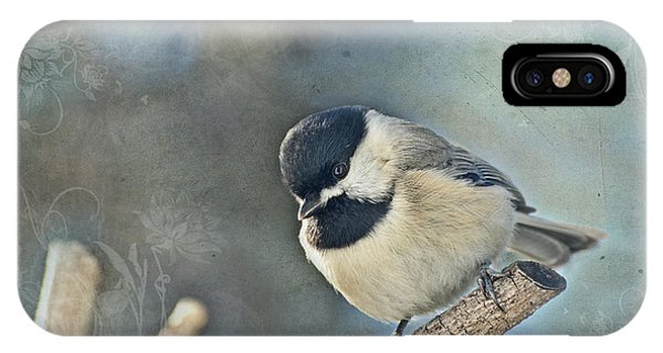Chickadee With Texture IPhone Case