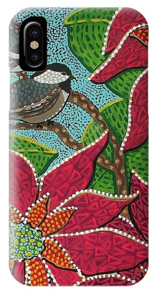Chickadee's At Winter Time IPhone Case