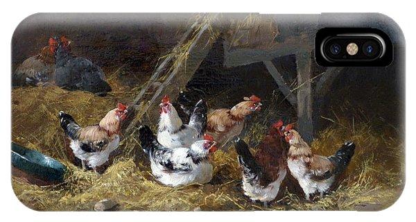 Barnyard iPhone Case - Chicken Coop Circa 1880 by David Lloyd Glover