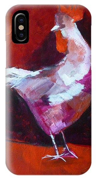 Barnyard iPhone Case - Chicken Light by Nancy Merkle