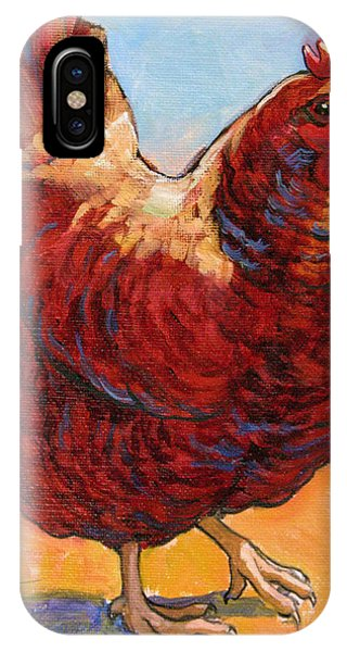 Barnyard iPhone Case - Chicken Sister 1 by Tracie Thompson
