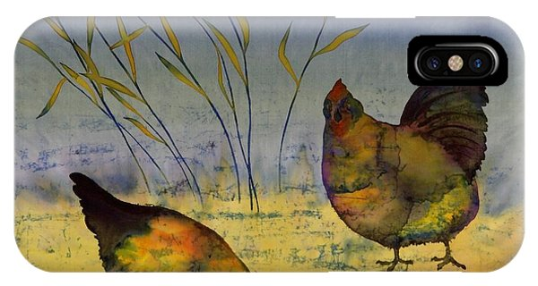 Chickens On Silk IPhone Case