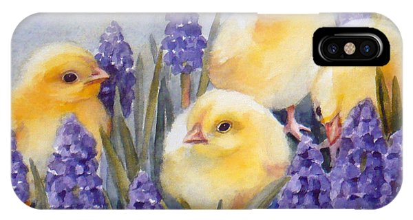 Chicks Among The Hyacinth IPhone Case