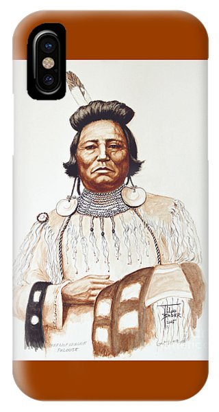 Chief Wolf Necklace IPhone Case
