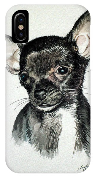 Chihuahua Black 2 IPhone Case