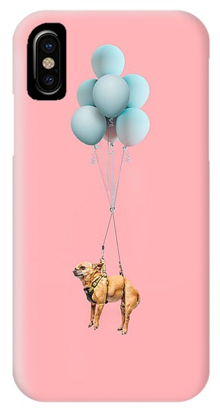 Chihuahua Dog Floating With Balloons IPhone Case