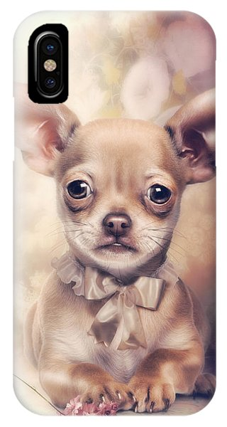 Chihuahua iPhone Case - Chihuahua Puppy by Cindy Grundsten