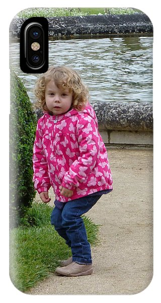 Child In Catherines Garden IPhone Case