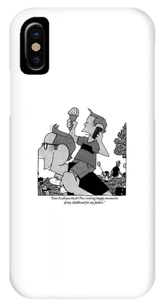 Child On Father's Shoulders IPhone Case