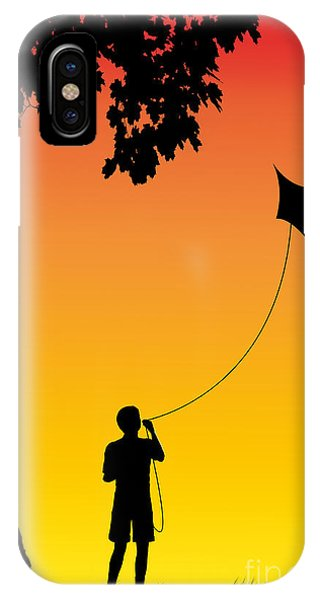 Childhood Dreams 1 The Kite IPhone Case