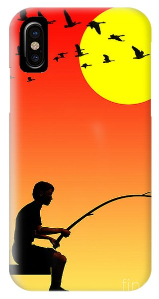 Childhood Dreams 3 Fishing IPhone Case