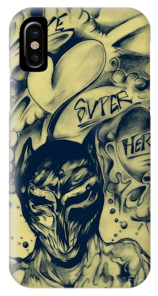 IPhone Case featuring the drawing Childhood Love by Daniel Brummitt