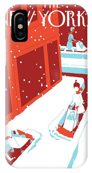 Plowing iPhone Case - Snowplows by Otto Steininger