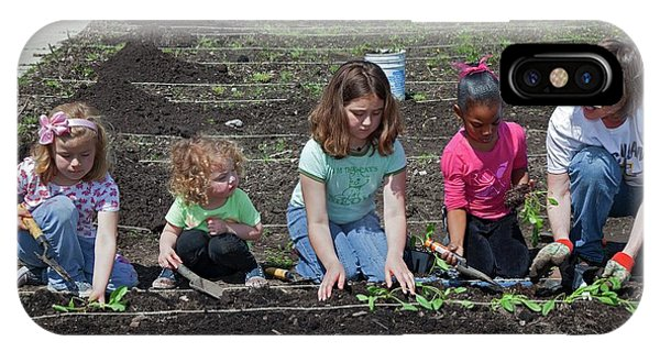 Poverty iPhone Case - Children At Work In A Community Garden by Jim West