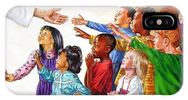 Children Coming To Jesus IPhone Case