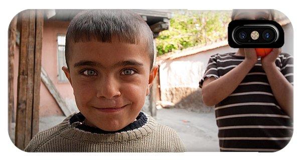 Children In Ankara Phone Case by Pedro Nunez