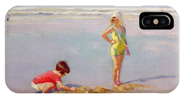 Children On The Beach IPhone Case