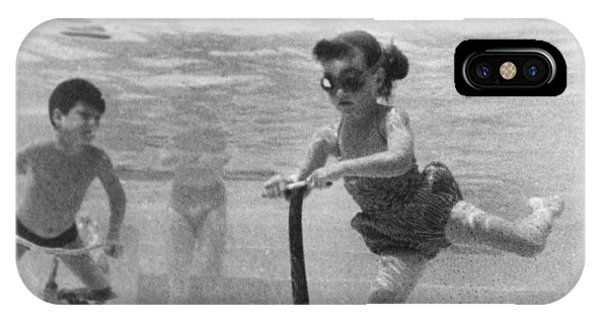 1958 iPhone Case - Children Playing Under Water by Underwood Archives