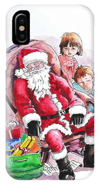 Children Patiently Waiting Up For Santa. IPhone Case