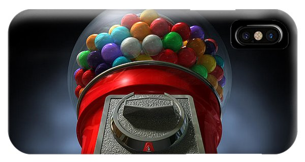 Dispenser iPhone Case - Childs View Of The Gumball Machine by Allan Swart