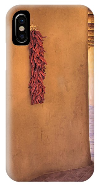 Chili Peppers On Adobe Wall Phone Case by Ann Powell