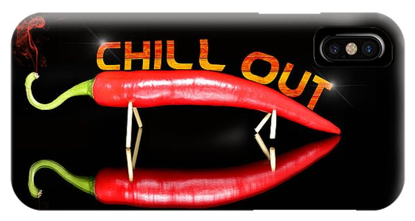 Chilli Pepper And Text Chill Out IPhone Case