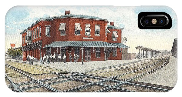 Chillicothe Ohio Railroad Depot Postcard IPhone Case