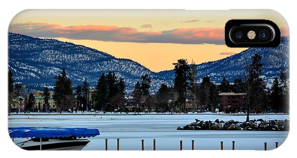 Chillingsunrise 001 Skaha Lake 02-28-2014 IPhone Case