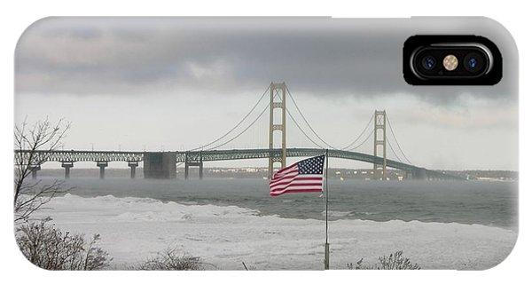 Chilly Mackinac Bridge IPhone Case