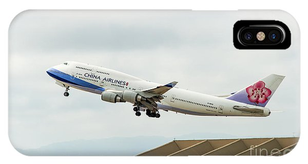 China Arlines 747 Lifts Off From Lax IPhone Case