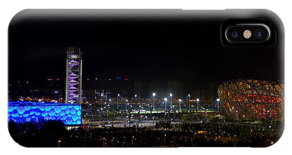 China Beijing Panorama Water Cube And Birds Nest Stadiums IPhone Case