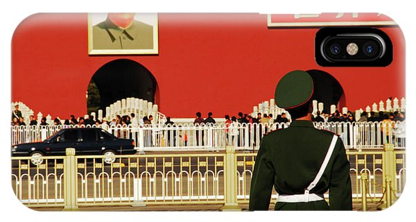Forbidden City iPhone Case - China, Beijing, Tiananmen Square, Guard by Anthony Asael