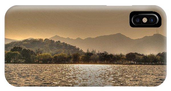 China Lake Sunset IPhone Case