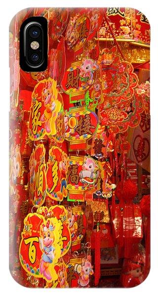 China Town Lanterns Phone Case by Jack Edson Adams