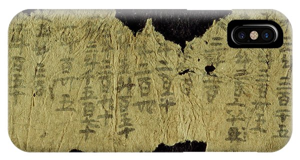 Finance iPhone Case - Chinese Accounts For Grain Sales by British Library