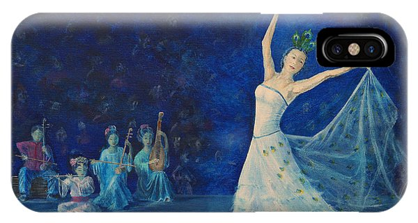 Chinese Peacock Dance-1 IPhone Case