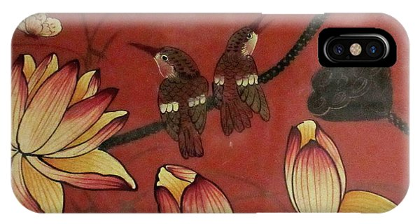 Chinese Red Lacquer Chest Detail IPhone Case