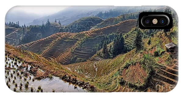 Chinese Rice Terraces IPhone Case